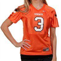 Nike Oklahoma State Cowboys #3 Women's Replica Football Jersey