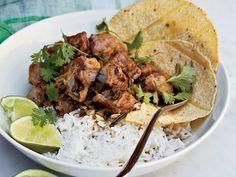 Pork Recipes, Wine Recipes, Mexican Food Recipes, Cooking Recipes, Cilantro Recipes, Mexican Dishes, Keto Recipes, Pork Stew Meat, Pork