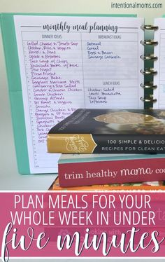 You can meal plan for your entire week in under 5 minutes! - Anchored Women This simple system makes it actually possible to meal plan in under 5 minutes a week! Save money, eat at home, and feed your family well using this easy process! Monthly Meal Planning, Family Meal Planning, Budget Meal Planning, Meal Planning Printable, Cooking On A Budget, Family Meals, Meal Planner, Meal Plan For Family, Monthly Menu