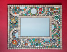 Espejo Paper Mosaic, Mosaic Crafts, Mosaic Projects, Mosaic Tile Designs, Mosaic Patterns, Mosaic Tiles, Mosaics, Mosaic Artwork, Mirror Mosaic