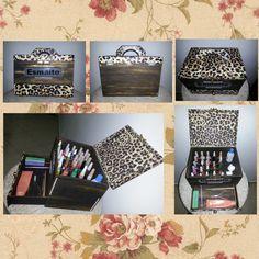 """Caixa de Esmalte Grande   TalitArtes  """"Sua casa é a extensão da sua alma"""" www.talitartes.com.br contato@talitartes.com.br www.facebook.com/TalitArtesedecoracoes"""