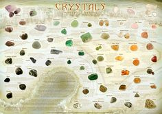 Ancient Earth Broome - Crystals, Gemstones, Incense, Chakra Balancing and Spiritual Healing - Chakra, Cryastal and Feng Shui Posters Crystals Minerals, Rocks And Minerals, Crystals And Gemstones, Stones And Crystals, Crystal Healing Chart, Healing Stones, Healing Crystals, Health Heal, Crystal Meanings