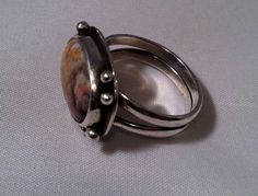 One Of A Kind Jasper Sterling Silver Ring With by TheBleuGiraffe, $64.00