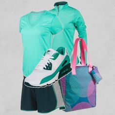 """""""Nike Atomic Teal Collection"""" by finishline on Polyvore"""