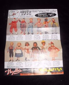 1959 Hazelle's Marionettes Brochure. Purchased December 12, 2015 online auction for $6.50 + $2.60 s&h
