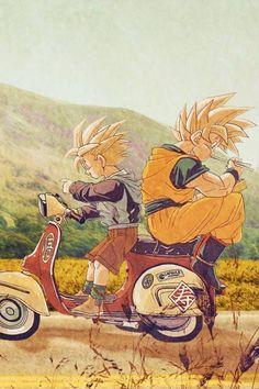 Dragonball Z Goku and Gohan
