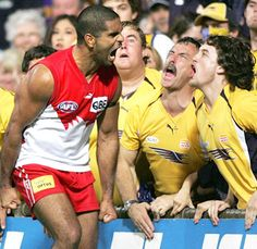 AFL - I love the skills and athleticism but this photo really shows the passion. Micky - O Captain Blood, Fairfax Media, Australian Football, Best Football Team, Iconic Photos, Rugby, Sydney, Melbourne, Swans
