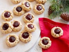 TIP: when I make any recipe of thumbprint cookies I put the jam onto the cookie before baking them. My family loves them like that, the other method is just not well recieved. Peanut Butter and Jelly Thumbprint Cookies