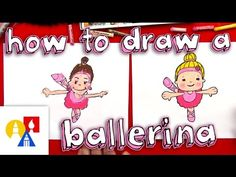 How To Draw A Cartoon Ballerina - Art for Kids Hub