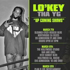 Lo'key Tha YG 2013 Show Flyer www.lokeythayg.com