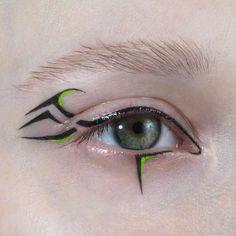 Tribal time - exclusively created for by make-up artist  ⠀ Punk Makeup, Edgy Makeup, Grunge Makeup, Eye Makeup Art, Makeup Inspo, Makeup Inspiration, Fairy Makeup, Mermaid Makeup, Exotic Makeup