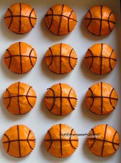 Basketball cupcakes - My daughter LOVES basket ball! Basketball Cupcakes, Basketball Party, Basketball Signs, Basketball Decorations, Basketball Videos, Basketball Workouts, Basketball Shooting, Basketball Season, Basketball Quotes
