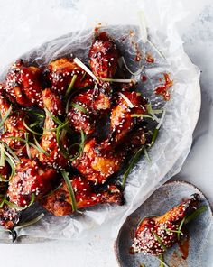 Korean Chicken Wings, Bbq Chicken Wings, Bbq Wings, Fried Chicken, Talapia Recipes Healthy, Healthy Recipes, Healthy Meals, Chicken Drumstick Recipes, Best Chicken Recipes