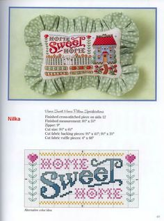 ru / Фото - 14 - Home Sweet Home cross stitch pattern to make pillow or frame. Cross Stitch Quotes, Cross Stitch Books, Cross Stitch Heart, Cross Stitch Cards, Cross Stitching, Cross Stitch Embroidery, Cross Stitch Gallery, Cross Stitch Designs, Cross Stitch Patterns