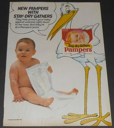 Pampers Stay-Dry Gathers Disposable Diapers