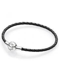 leather - buy fabulous pandora bracelets unique moments, leather, rose gold and silver designs, up to off all the latest must have looks! Pandora Uk, Cheap Pandora, Pandora Leather, Leather Charm Bracelets, Pandora Bracelet Charms, Black Braids, Braided Leather, Rose Gold, Charmed