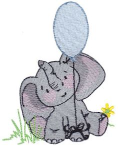 Baby Elephant Too embroidery designs at Bunnycup Embroidery - http://www.bunnycup.com/viewset.aspx?designset=694