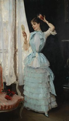 Aline at Her Toilette, Raimundo de Madrazo y Garreta ca. 1878