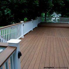 Kona timbertech rails pvc decking in mountain cedar for Deck gets too hot