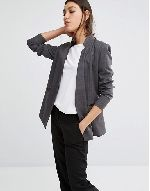 Blazers aren't just for the office, and these looks prove it! Contrast a sophisticated pinstripe blazer with a pair of light-wash jeans and statement earnings for an elevated everyday look....