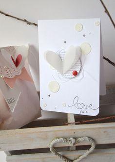carte coeur saint valentin scrapbooking
