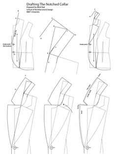 Tailoring a Jacket Diary: Tailoring Studio semester 2009 Tailoring Techniques, Techniques Couture, Sewing Techniques, Coat Patterns, Clothing Patterns, Sewing Patterns, Sewing Hacks, Sewing Tutorials, Sewing Projects
