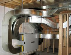 State-of-the-Art Sheet Metal Heat Recovery Ventilation, Office Ceiling, Home Fix, Sheet Metal, Front Porch, Warehouse, Architecture, Ideas, Design