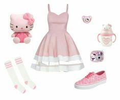 Đọc Truyện My Book Daddy Kink - Roupas - Trang 2 - Lauren Jauregui - Wattpad - Wattpad Teenage Outfits, Little Girl Outfits, Cute Outfits For Kids, Pink Outfits, Kawaii Fashion, Cute Fashion, Fashion Outfits, Moda Lolita, Ddlg Outfits