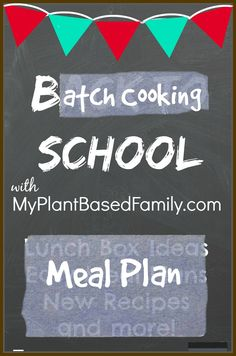 A Plant-Based Meal Plan with the added easy of Batch Cooking. This Meal Plan walks you through the batch cooking process. A how to guide for beginners.