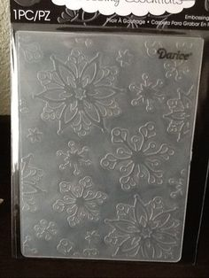Darice Embossing Folder Elegant Snowflakes New Release Arts And Crafts, Paper Crafts, Embossing Folder, Digital Pattern, Pattern Paper, Craft Stores, Snowflakes, Card Making, Crafting