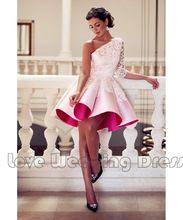 Mode-Design Schulter Cocktailkleider Mit Appliques Short Mini Sexy Backless Brautkleider Satin Rüschen Party Kleider //Price: $US $93.00 & FREE Shipping //     #eveningdresses