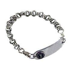 Medical ID Bracelets and jewelry custom engraved for men, women, children - Womens Stainless Medical Alert Bracelets
