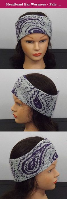 Headband Ear Warmers - Black and Blue. This headband is knit out ...