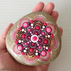 Colorful world of mandala painted rocks and por CreateAndCherish