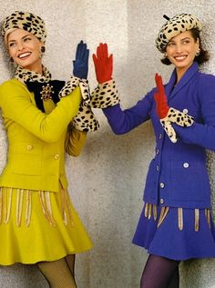 Chanel F/W 1991  Linda Evangelista & Christy Turlington by Karl Lagerfeld