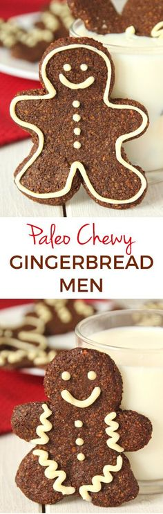 Paleo Gingerbread Men Cookies made soft and chewy! {grain-free, gluten-free, and dairy-free} #dessert #cookies #recipe #paleo #glutenfree #grainfree #dairyfree