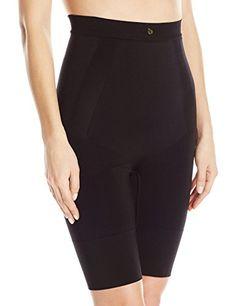 1a514a8179 Annette Womens Firm Control Smooth High Waist Long Leg Shaper Black L  gt   Click for