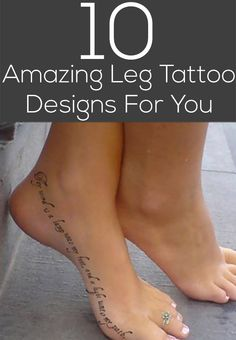 10 Amazing Leg Tattoo Designs For You