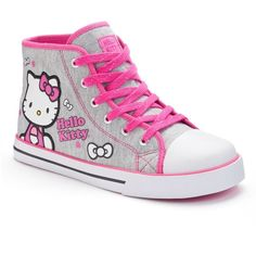 Hello Kitty Girls' High-Top Sneakers ❤ liked on Polyvore featuring girls, kids clothes and little girl