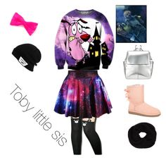 """""""Toby little sis #1"""" by insane-smilee ❤ liked on Polyvore featuring UGG Australia, Kin by John Lewis, claire's, Vans and DKNY"""
