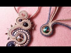 This is the sixth in another set of video's, this time showing how to create various design elements used in soutache. Tutorial Soutache, Macrame Tutorial, Diy Tutorial, Handmade Necklaces, Handmade Jewelry, Seed Bead Flowers, Soutache Earrings, Imitation Jewelry, Micro Macrame