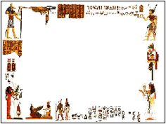 Ancient Egyptian murals figure - PPT cartoon template Powerpoint templates free…