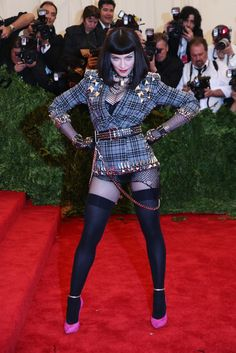 Madonna in Givenchy Haute Couture at the Met Gala [Photo by Evan Falk]