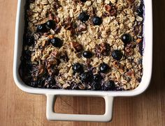 Baked Oatmeal (from Super Natural Every Day: Well-Loved Recipes from My Natural Foods Kitchen by Heidi Swanson)*