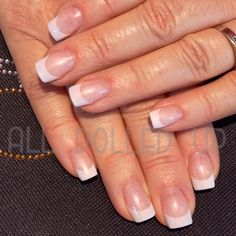 French fill with Amore gels - Optima White and Opalesque Gloss. Love this classic look!
