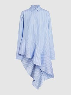 Discover the Flounce Ruffled Stretch-Cotton Shirt by Palmer//Harding at The Modist. Shop the range today and discover Modest Fashion, Hijab Fashion, Korean Fashion, Fashion Dresses, Blouse Styles, Blouse Designs, Korean Blouse, Illustration Mode, Hijab Outfit