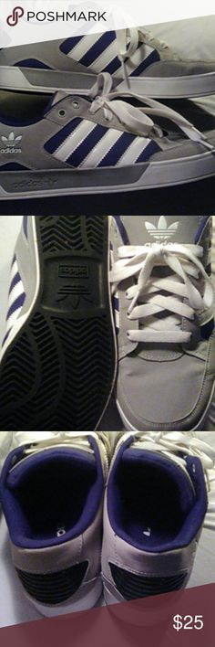 Adidas Gray white black used Shoes Sneakers