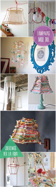 coleccion lamparas de tela diy que cosica