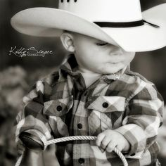 There just aren't words to describe this kind of cuteness. #LittleCowboy #CowboyHat #Cute