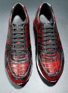 Crocodile Skin Sneakers for Sale Gentleman Style, Gentleman Fashion, Mens Shoes Sale, Daily Fashion, Mens Fashion, Men's Shoes, Dress Shoes, Leather Skin, Crocodile Skin